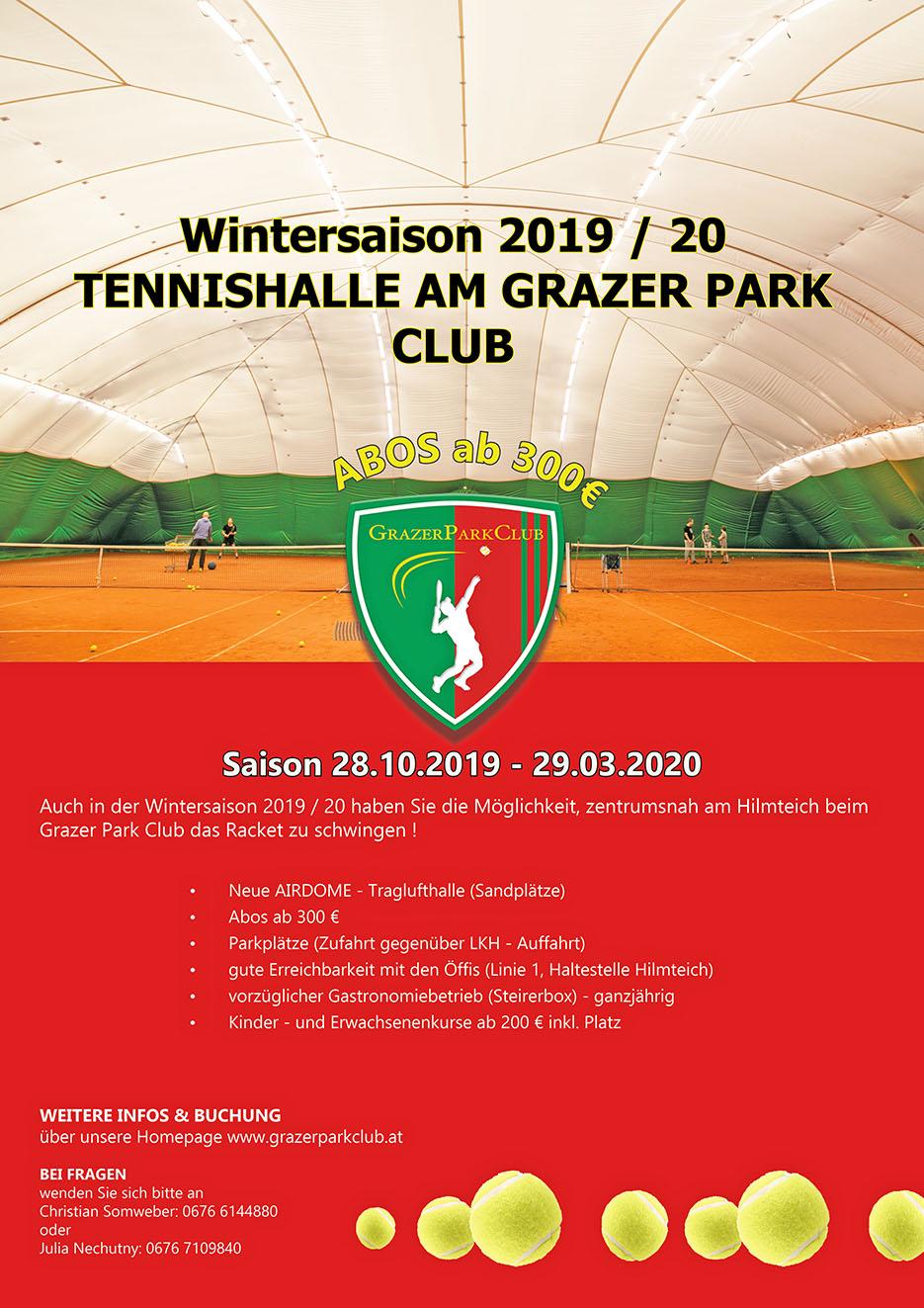 Wintertennis Grazer Park Club
