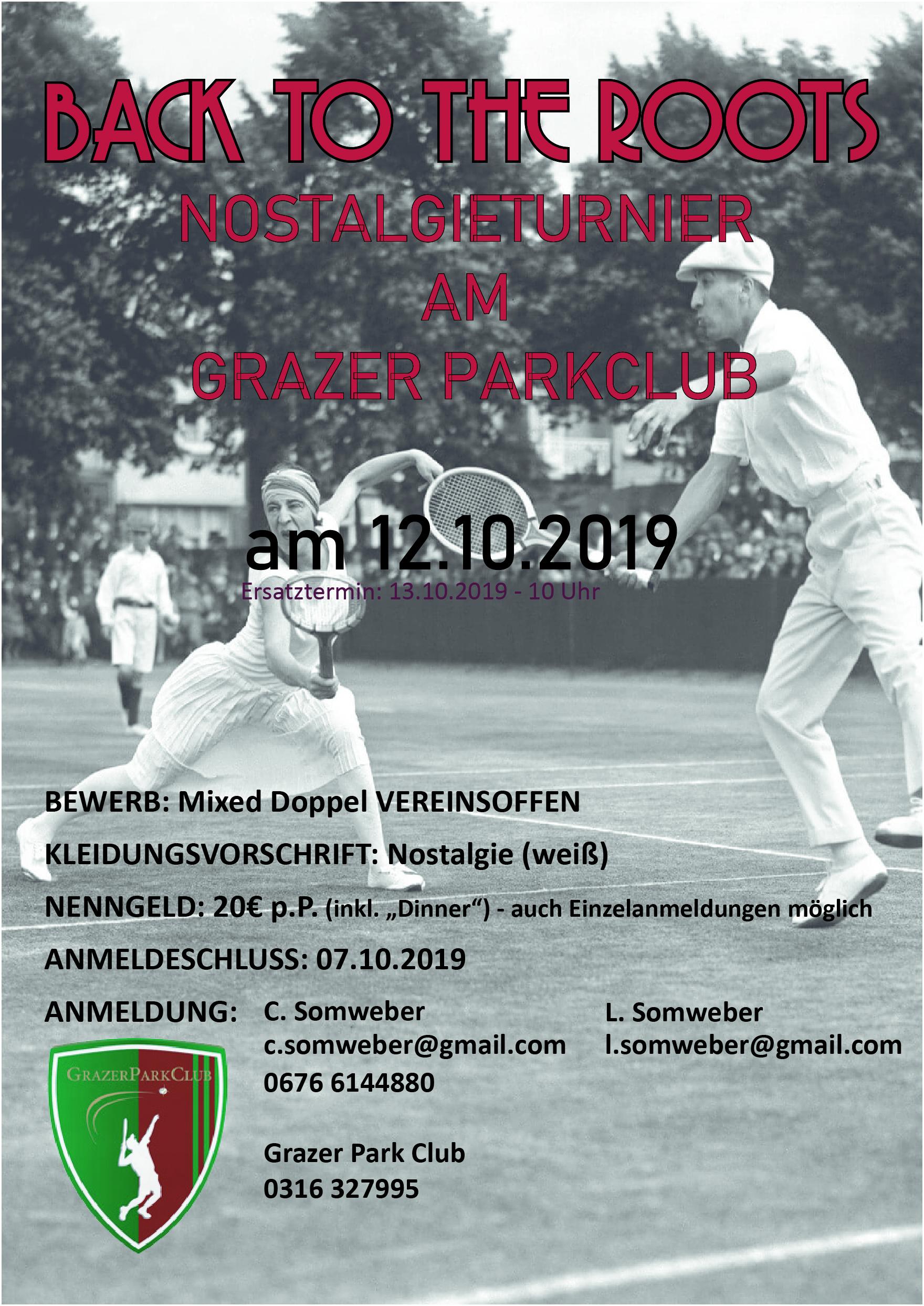 Nostalgieturnier Tennis GPC 2019